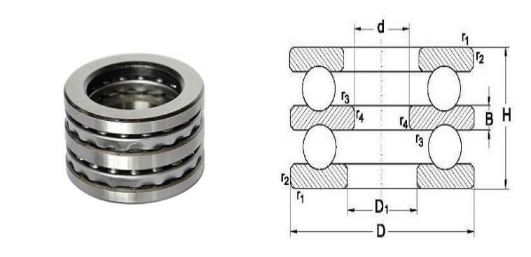 Double Direction Thrust Bearings 52200/52300/52400 Series