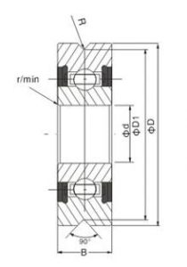 drawing of track roller bearing A series