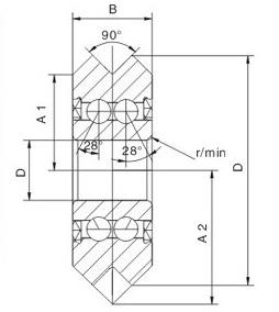 drawing of track roller bearing W series