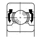 2RU non-contact rubber seal drawing