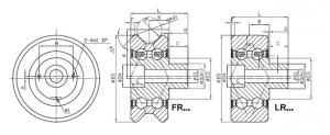drawing of FR/LR track roller bearing
