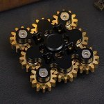 9 gears black hand spinner