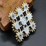 9 gears silver hand spinner