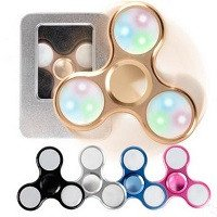aliminum alloy 3pcs led lights hand spinner