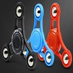 black-blue-red 3pcs steel balls hand spinner fidget