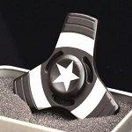 black captain america tri hand spinner fidget