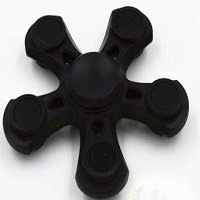 black five points hand spinner fidget