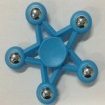 blue five star steel ball hand spinner