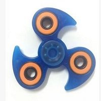 blue luminous hand spinner