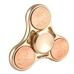 brass color cents coin hand spinner