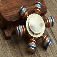 brass six arms hand spinner fidget