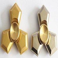 brass tri fidget spinner with ceramic balls