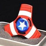 captain america tri hand spinner