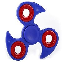 dark blue ABS with iron counterweight cyclone hand spinner