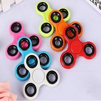 different color ABS fidget spinner with black iron counterweight