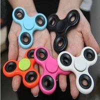 different color ABS hand spinner with black iron counterweight
