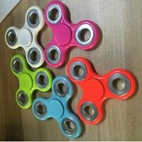 different color ABS hand spinner with silver iron counterweight