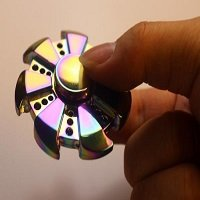 gear rainbow hand spinner