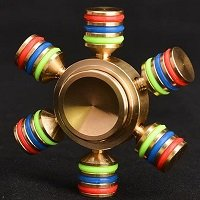 gold alloy six arms hand spinner