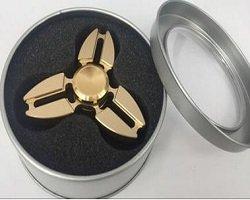 gold three crabs fidget spinner