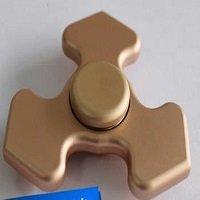 gold tri fidget spinner