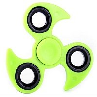 green ABS with iron counterweight cyclone hand spinner