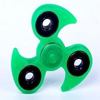 green luminous hand spinner