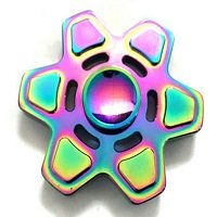 hex rainbow hand spinner