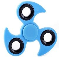 light blue ABS with iron counterweight cyclone hand spinner