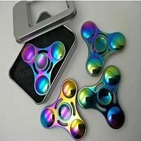 metal box package for UFO rainbow hand spinner