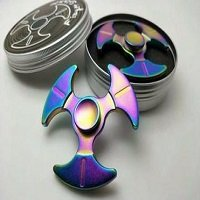 metal box package for battleax hand spinner