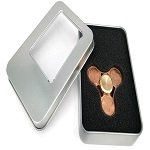 metal box package for cents coin hand spinner