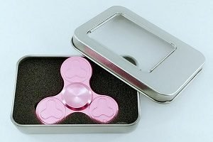 metal box package for plum blossom hand spinner