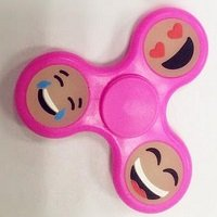 pink glowing hand spinner