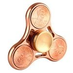 red copper color cents coin hand spinner