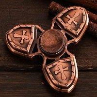 red copper three crusader hand spinner fidget