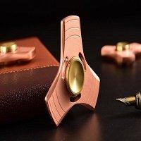 red copper tri hand spinner fidget