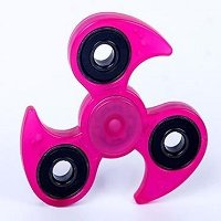rose red luminous hand spinner