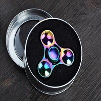 round metal box package for UFO rainbow hand spinner