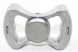 silver bowknot hand spinner