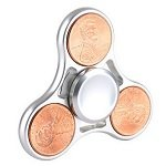 silver color cents coin hand spinner