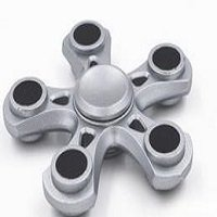 silver five points hand spinner fidget