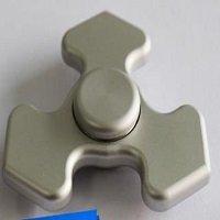 silver tri fidget spinner