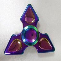 three points rainbow hand spinner