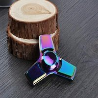 tri alloy rainbow hand spinner