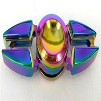 two crabs rainbow hand spinner