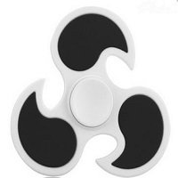 white ABS cyclone hand spinner