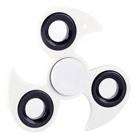white ABS with iron counterweight cyclone hand spinner