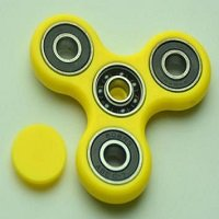 yellow ABS hand spinner with black rubber seals and Si3N4 ceramic balls