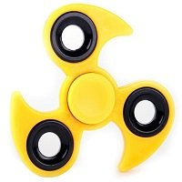 yellow ABS with iron counterweight cyclone hand spinner